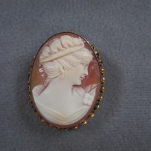 Classic Quality Vintage Handcarved Shell Cameo