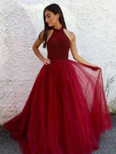 Fashion Prom Dress Halter Neckline, Back To School Dresses, Prom Dresses For Teens, Graduation Party Dresses BPD0501