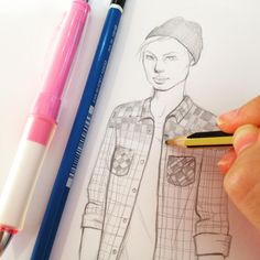 #sketch #pencil #men #drawing #fashion #notebook #jessicaguarnido