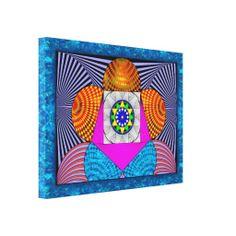 Geometria Libertação - Impressão em canvas medindo 60 x 45 cm - R$ 351,95