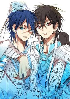Hakuryuu and Judar   ~Magi: The Labyrinth of Magic