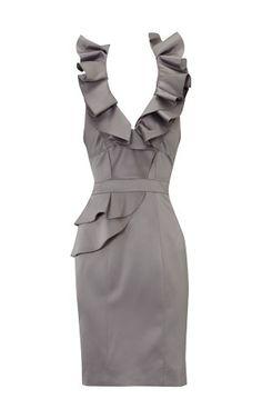 KAREN MILLEN |= Silver dress