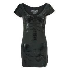 Kreepsville 666 Dress SKELETON TUNIC DRESS
