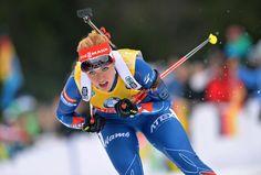Mezinárodní Biatlon Unie / Hildebrandův je Sprint Win vzrušení německý Crowd