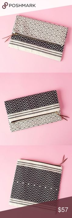 Tribe Alive Foldover Clutch Atitlán Brocade NIP! This clutch is reversible, so you can pick the side/pattern you want on display. Shown in both patterns! It's made from 100% handwoven cotton, and the pattern is gorgeous! It's lined inside, as well! This clutch measures 11.5″ W x 11.5″ H, so it can fit all the essentials, phone, lip gloss, hand sanitizer, wallet, etc! No trades. No outside sales. TribeAlive Bags Clutches & Wristlets