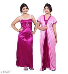 Nightdress Comfy Satin Night Dress Set Fabric: Satin