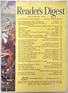 "SEPTEMBER 1949 ""Reader's Digest"" -TUCKER TORPEDO - QUEEN FREDERIKA - KANSAS CITY"