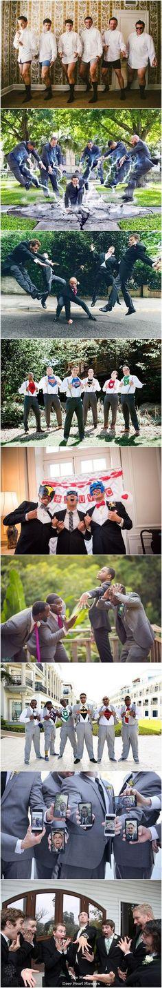 funny groomsmen wedding photo ideas / http://www.deerpearlflowers.com/fun-groomsmen-photo-ideas-and-poses/