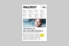 VOLLTEXT - Zeitung für Literatur by Jann de Vries, via Behance