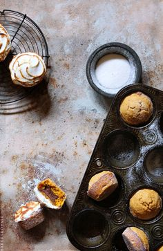 Pumpking Smore Dougnut Muffin / Bakers Royale #recipe
