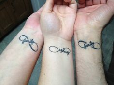 My wife, daughter, and my Infinity Family tattoo
