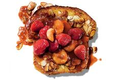 French Toast Amandine CLAIRE BENOIST FOR THE NEW YORK TIMES.  FOOD STYLIST: MAGGIE RUGGIERO