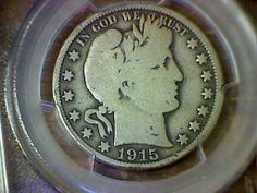 1915 Barber Half Dollar PCGS Certified G06 RARE Coin | eBay