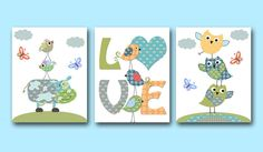 Baby Boy Nursery art print Children Wall Art Baby por artbynataera, $42.00