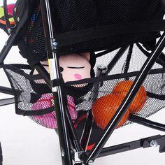 1 Pc Multifunctional Stroller Storage Big Black Net Hanging Basket Baby Safe Mesh Bags Infant Trolley Basket Nets Accessories