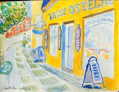 Valby Cheese Monger - Watercolor 2016 - Claus Ib Olsen