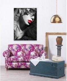 Sofá Estilo Fleurs Violettes   #mueblesbaratos #mueblesrebajados #muebleseconomicos #sale #rebajas #descuento #decoracion #casa #interior #interiores #design #liquidacion #outled #saldillo #mueblessegundamano #diy #mueblesantiguos #mueblesvintage #mueblesdemadera #mueblesreciclados Sofas Vintage, Love Seat, Couch, Interiores Design, Furniture, Diy, Home Decor, Home, Antique Furniture