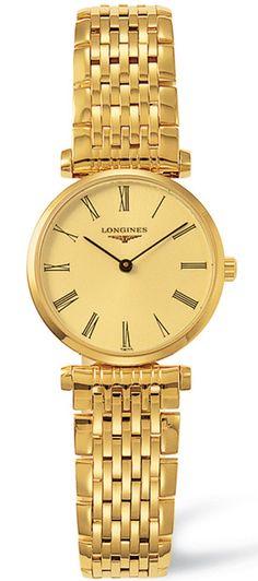 L4.209.2.31.8, L42092318, Longines la grande classique gold watch, ladies