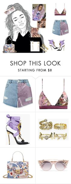 """IDGAF #DuaLipa"" by diane-ds ❤ liked on Polyvore featuring Miss Selfridge, Zimmermann, Dsquared2, Boohoo, Jimmy Choo and Nush"
