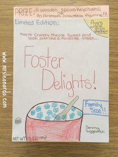 cereal box book report 4th grade