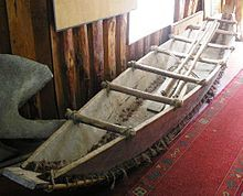 Reconstruction of a dalca in the museum of Dalcahue, Chiloé. Pacific Coast, West Coast, Patagonia, Side Plank, Light And Shadow, Chile, South America, Boat, Design
