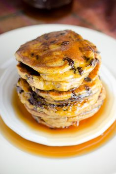 Peanut Butter Chocolate Chip Pumpkin Pancakes