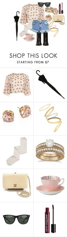 """""""Vintage?!"""" by fabsim ❤ liked on Polyvore featuring Levi's, Tory Burch, Madewell, Intimately Free People, Allurez, Chanel, Royal Albert, Ray-Ban, NYX and Dr. Martens"""