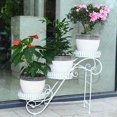66*24*50cm big size european balcony fower pots shelf garden flower stands holder flower pergolas metal iron flower shelf
