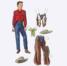 Classic Country-Western Rocky Paper Doll