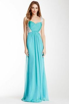La Femme Open Back Embellished Gown-good idea when the dress is strapless