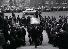 The funeral of Billie Holiday at St Paul RC Church, July 1959. Billie Holiday and John Coltrane both died on July 17th and their funerals were both held on July 21st (Lady Day in 1959 and Trane in 1967)