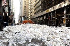 Bulldozing a paper blizzard New York Giants, New York City, My Photos, Nyc, Paper, Pretty, Outdoor, Outdoors, New York