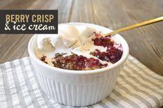 | Berry Crisp with Vanilla Bean Ice Cream | westcoastcapri.com