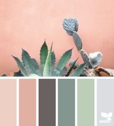 Image result for green and pinks 1950s palette