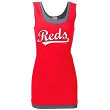 Cincinnati Reds Womens Missy Double Tank by 5th