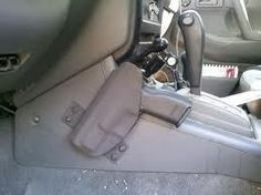Car holster - http://www.diyhomeproject.net/car-holster