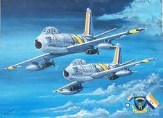 Military Jets, Military Aircraft, Sabre Jet, War Thunder, Airplane Art, Korean War, Aviation Art, Wwii, Air Force