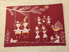 Radha Krishna in Warli painting by Seema Jay