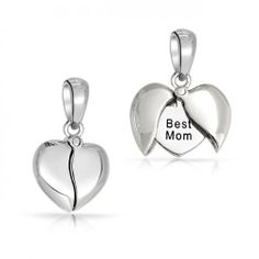 Valentine Gifts Best Friends Message Opening Heart Pendant 925 Sterling Silver from Bling Jewelry at SHOP. Mommy Jewelry, Heart Jewelry, Bling Jewelry, Gold Jewellery, Jewelry Rings, Silver Rings Handmade, Sterling Silver Necklaces, Silver Charms, Silver Earrings