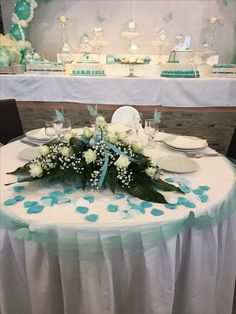 Matrimonio +battesimo🦋❤🦋 Table Decorations, Furniture, Home Decor, Party, Decoration Home, Room Decor, Home Furnishings, Home Interior Design, Dinner Table Decorations
