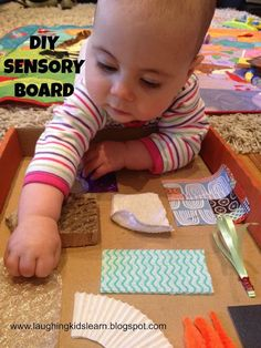 Here is a simple way to make your own sensory board for babies. This DIY sensory board will entertain and educate your little one and help develop their sense of touch through exploration. Great for improving tummy time too!!!