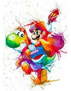 Watercolors: Mario & Yoshie