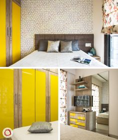 Mumbai interior design_Livspace home_canary yellow kid's bedroom
