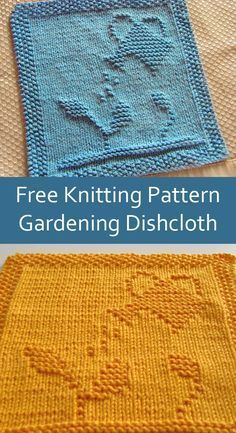 Knitted Squares Pattern, Knitted Dishcloth Patterns Free, Knitting Squares, Knitted Washcloths, Crochet Dishcloths, Loom Knitting, Knitting Stitches, Knitting Patterns Free, Free Knitting