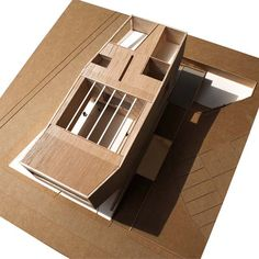 model, Clubhouse Pune, 1:200 cardboard, balsa wood
