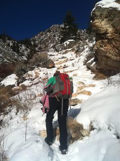 Hiking to goldbug in Idaho 2014 February