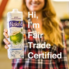 Welcome to the world #FairTrade Certified #Coconut Water! Support hard-working coconut farmers in the Philippines with every sip of Naked's Coconut Water – the first of its kind. #newproduct #announcement