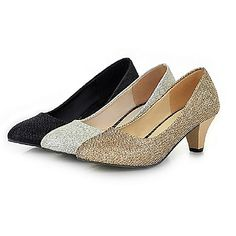 Sparkling+Glitter+Women's+Chunky+Heel+Closed+Toe+Pumps/Heels+Shoes(More+Colors)+–+USD+$+34.99