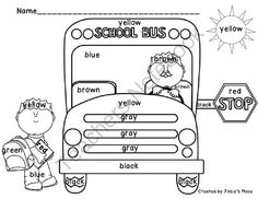 FREE Bus Safety Sight Word Reader PreK 2 Pre K Safety