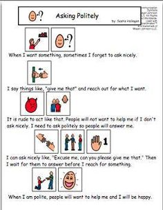 Visual Social Story Packet for Children with Autism: Friendship ...